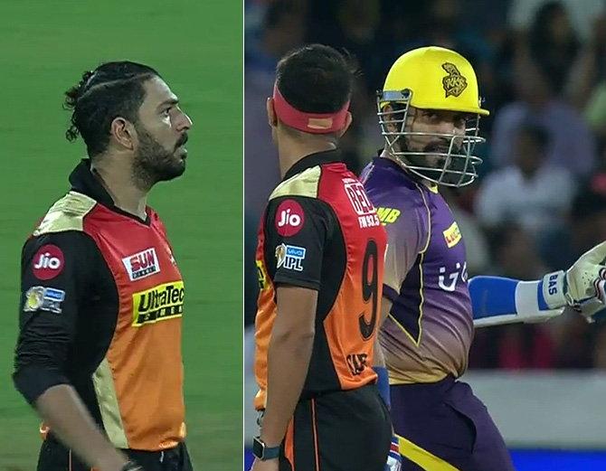 जब जूनियर खिलाड़ी के उथप्पा ने जानबूझकर मारा कंधा तो युवराज सिंह भड़क गए, देखें विडियो!